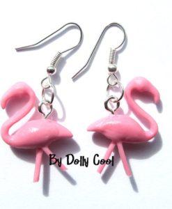 3d Flamingo Earrings