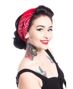 Band one bandana ladies red