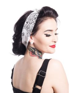 Band one bandana ladies white