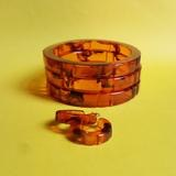 Hazel fakelite bangle - tortoiseshell