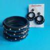 Joan diamante bracelet -black silver