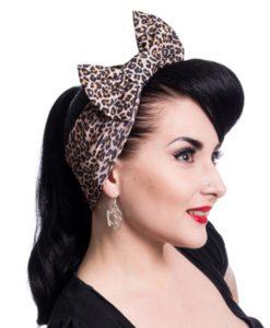 Jolene headband ladies brown leo