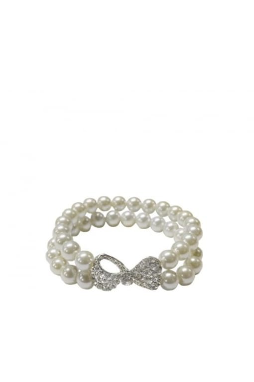 Pearl Bracelet with diamante Bow