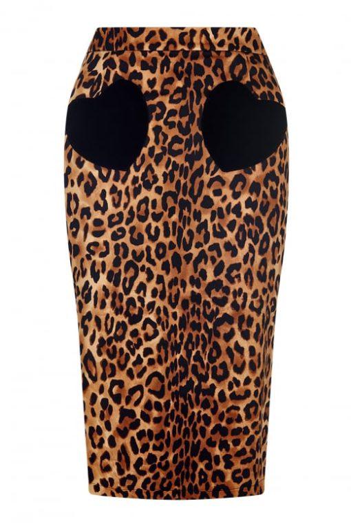 b2d38f8f478b Collectif - Violetta leopard print skirt | Polkadots n Bows